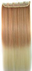 Clip in hair extension strook / Ombre #27/613 / 60 cm