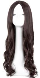Pruik / Koffie bruin haar #2 - Nevada / 60 cm