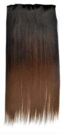 Clip in hair extension strook/ Ombre #1-8 / 66 cm