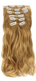 Synthetische clip in hair extension set / #27  / 55 cm