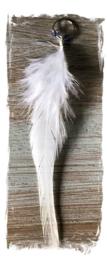 Festival haarbedels /  bedel haar veer  '' angel light '' / 1 stuk