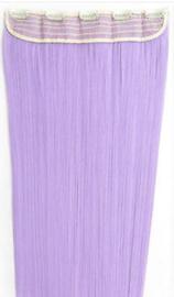 Clip in hair extensions strook / pastel paars  / 60 cm