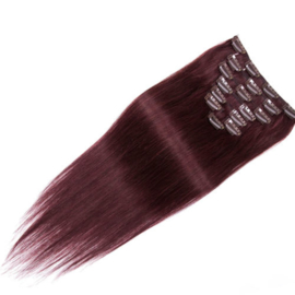 Clip in hair extensions set - red fantasy dream /  70 gram / 50 cm