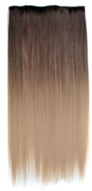 Clip in hair extension strook/ Ombre #2-16 / 66 cm
