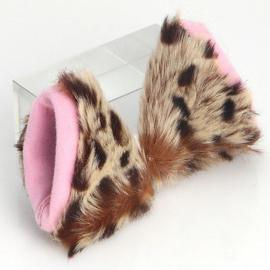 Halloween / luipaardenprint katten oren / haarspeld