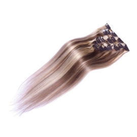 Clip in hair extension set mixed #8/613 / 70 gram / 50 cm