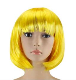 Pruik / Gele bob / 25 cm