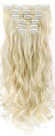 Synthetische clip in extension set / Licht blond #88 / 55 cm
