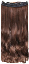 Clip in hair extension strook / Bruin #2/30 / 50 cm