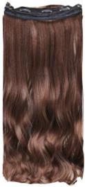 Clip in hair extension strook / Bruin #2/30 / 50 cm