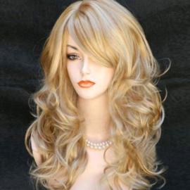 Pruik / Blond mixed haar  / 60 cm