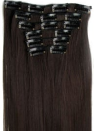 Synthetische clip in hair extension set /  2/33#  / 60 cm