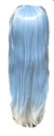 Pruik / Licht blauw en wit haar  / 80 cm