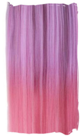 Clip in extension strook / Ombre paars - hot pink / 63 cm
