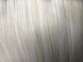 Synthetische clip in extension set /  mix blond - zilver  grijs /  66 cm