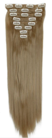 Synthetische clip in extension set / Asblond #24 / 66 cm