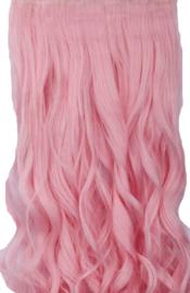 Clip in hair extensions strook / Licht roze  /  73 cm