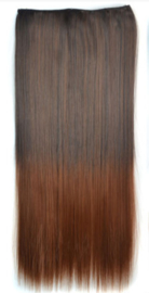 Clip in hair extension strook / Ombre #4/30 / 60 cm