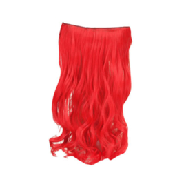 Clip in extension strook / Rood  /  50 cm