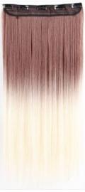 Synthetische clip in extension / Ombre Auburn - Blonde / 63cm