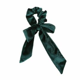1 haarelastiek / Velvet groen