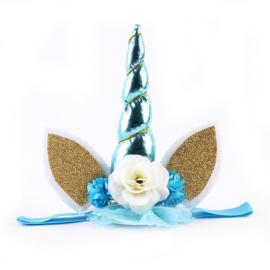 Haarband / Unicorn baby style blauw diadeem