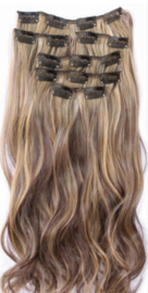 Synthetische clip in hair extension set / 4#-27  / 55 cm