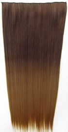 Clip in hair extension strook / Ombre #8/27 / 60 cm