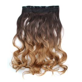 Clip in hair extension strook/ Ombre #2-22/ 60 cm