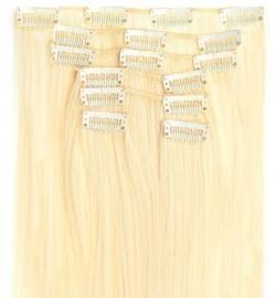 Synthetische clip in extension set / blond - blonde star /#60