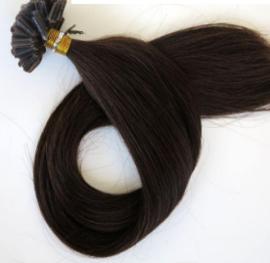 50 U-tip wax hair extensions / bruin #2 / 0,5 gram / Synthetisch + echt haar