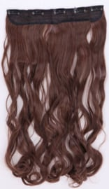 Clip in hair extension baan / Bruin M33x / 60 cm