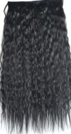 Clip in hair extensions baan / zwart 1b# golvend /  60 cm