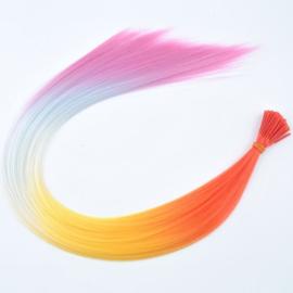 Synthetische feathers / regenboog  2 / 55 cm