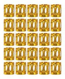 Festival haarbedels / Gouden kraal  / 1 stuk