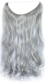 Synthetische wire hair / Grijs / 55 cm