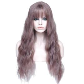 Pruik / Blur bruin - rood / 60 cm