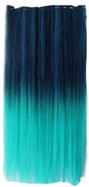 Clip in extension strook / Ombre donker blauw  - licht blauw / 55 cm