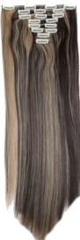 Synthetische clip in extensions set / Bruin - blond P4/24 / 66 cm