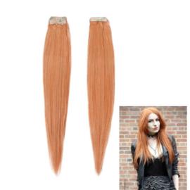 Tape extensions / human hair - echt haar / oranje #130