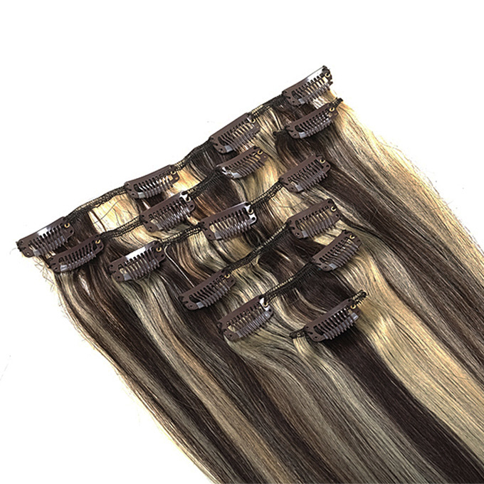 Synthetische clip in hair extension set / Mixed #2/615 / 60 cm