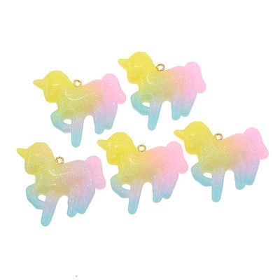 Festival haarbedels / Bedel  rainbow unicorn glitter / 1 stuk