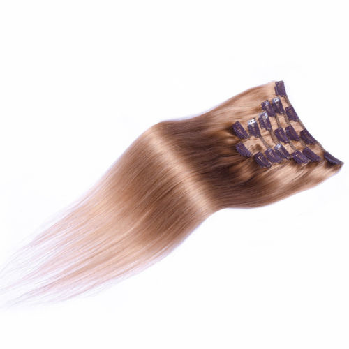 Clip in hair extensions set goudbruin  #12 /  70 gram / 50 cm