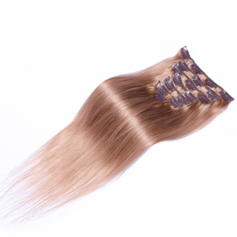 Clip in hair extensions set goudblond #27 / 70 gram / 50cm