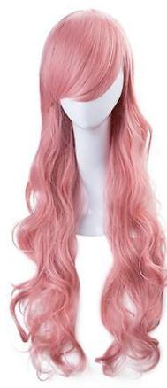 Pruik / Big Pink princess / 75  cm