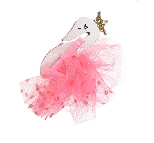 Haarspeld / Zwanen prinses roze