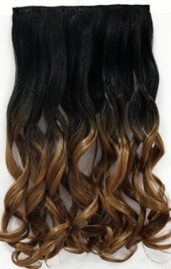 Clip in hair extension strook/ Ombre #1B/27/ 40 cm