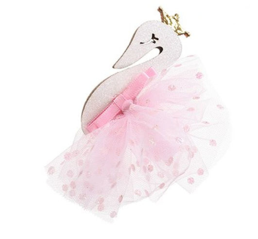 Haarspeld / Zwanen prinses licht roze