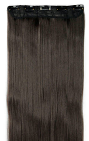 Clip in hair extensions baan / Koffie zwart #2  / 60 cm