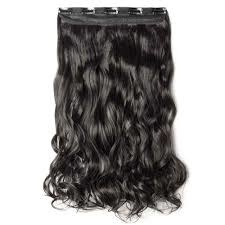 Clip in hair extensions strook / donker bruin #2 golvend /  68 cm